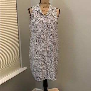 H&M sz 8 Dalmatian print shirt dress sleeveless